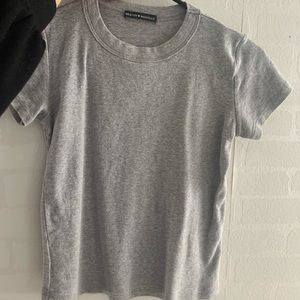 Brandy Melville Closet Staple Solid Grey Tee